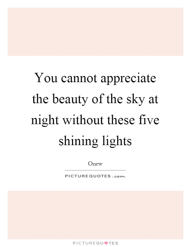 You cannot appreciate the beauty of the sky at night without these five shining lights Picture Quote #1