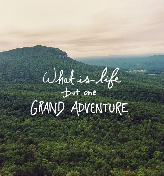 What is life but one grand adventure Picture Quote #1