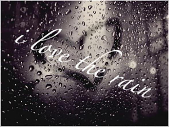 I love the rain Picture Quote #2