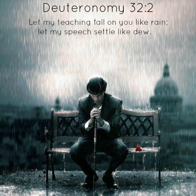 Let my teaching fall on you like rain, let my speech settle like dew Picture Quote #1