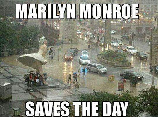 Marilyn Monroe saves the day Picture Quote #1