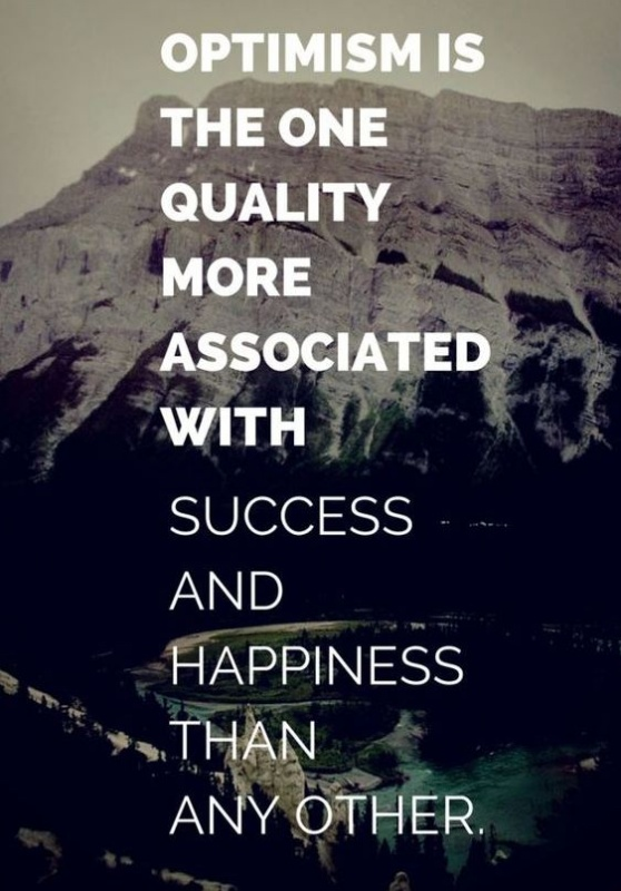 Optimism is the one quality more associated with success and happiness than any other Picture Quote #1