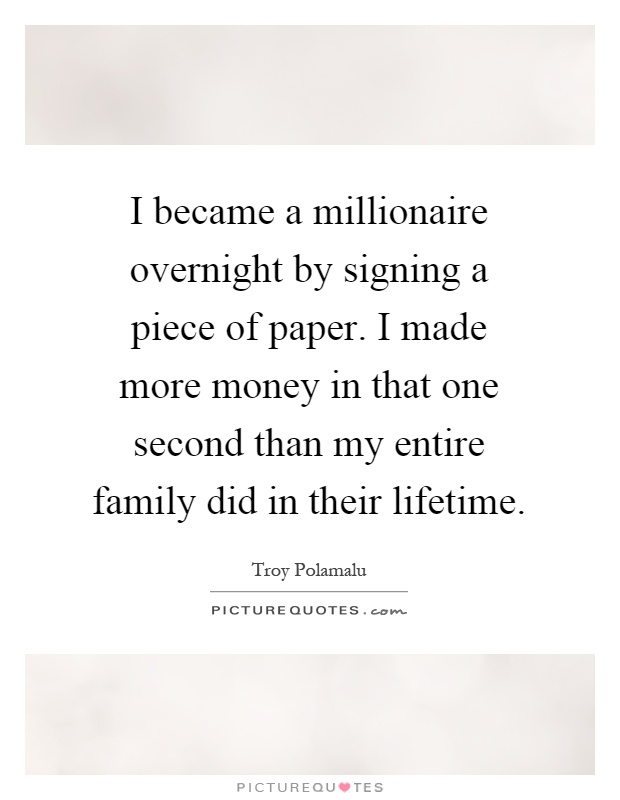 essay on if i became a millionaire The day i became a millionaire by david heinemeier hansson • 12/04/15 5:46pm i grew up lower-middle class on the outskirts of copenhagen anywhere outside of scandinavia, the socioeconomic label would probably have been 'poor'.
