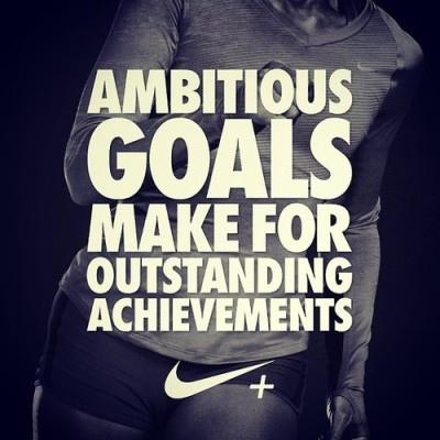 Ambitious goals make for outstanding achievements Picture Quote #1