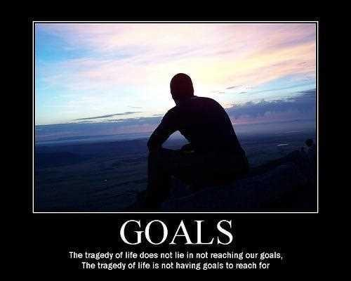 Goals. The tragedy of life does not lie in not reaching our goals. The tragedy of life is not having goals to reach for Picture Quote #1