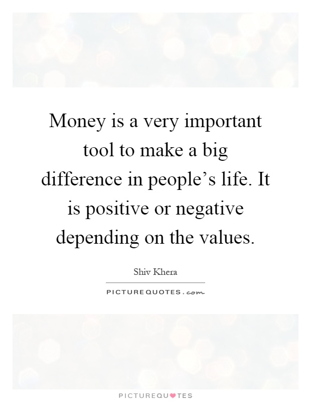 money is very important essay