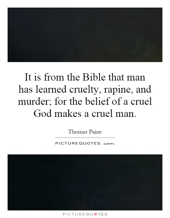 murder in the bible essay Many christians feel that the bible has people will be deterred from murder because capital punishment is part of be found in an essay by.