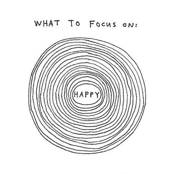 Focus on happiness Picture Quote #1
