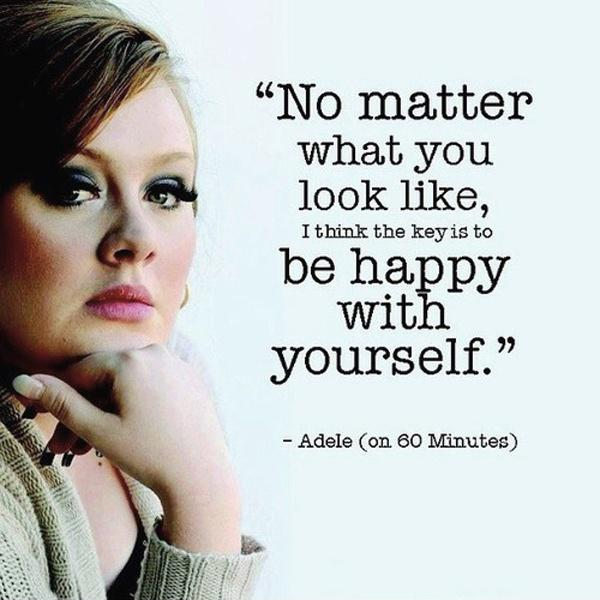 No matter what you look like, I think the key is to be happy with yourself Picture Quote #1