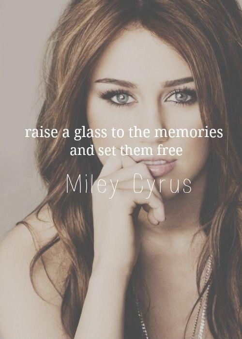 Raise a glass to the memories and set them free Picture Quote #1
