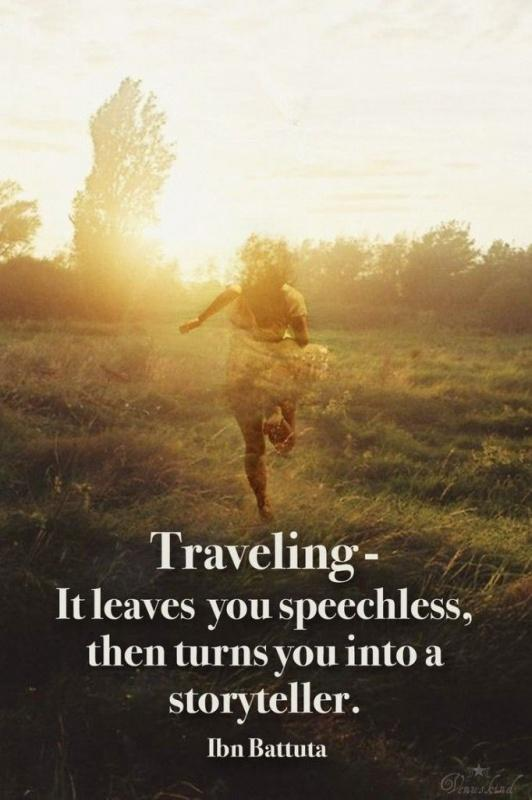 Traveling - it leaves you speechless, then turns you into a storyteller Picture Quote #1