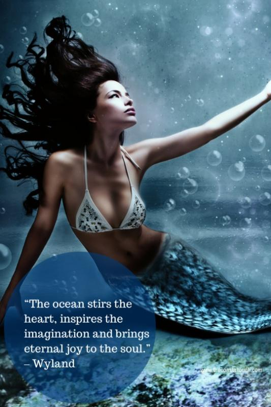 The ocean stirs the heart, inspires the imagination and brings eternal joy to the soul Picture Quote #1