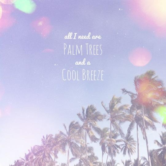 All I need are palm trees and a cool breeze Picture Quote #1