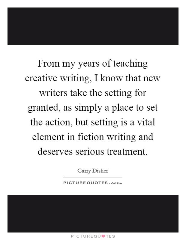 Creative writing setting