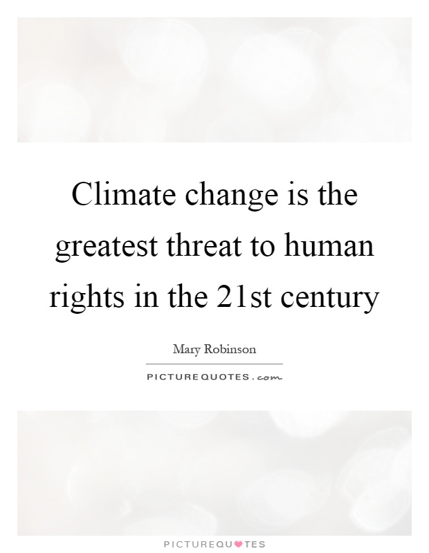 climate change is a minor threat essay Climate change climate change is a significant and lasting change in the statistical distribution of weather patterns over periods ranging from decades to millions.