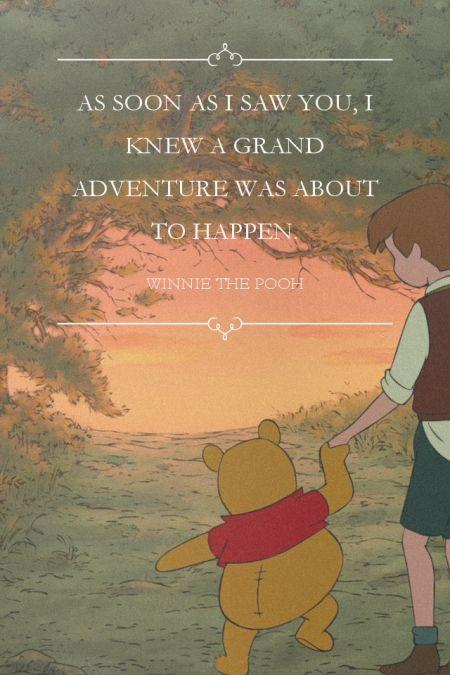 As soon as I saw you, I knew a grand adventure was about to happen Picture Quote #1