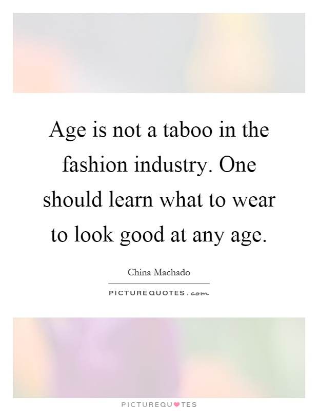 The fashion industry should not feel