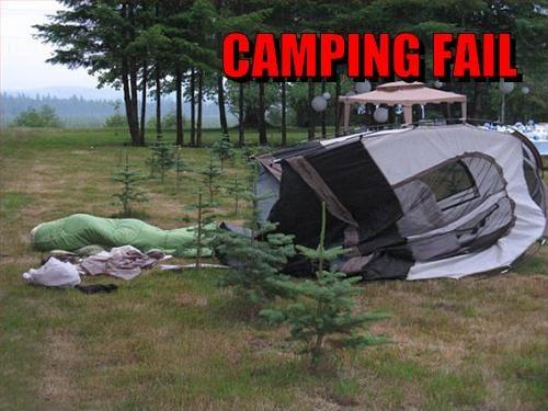Camping fail Picture Quote #1