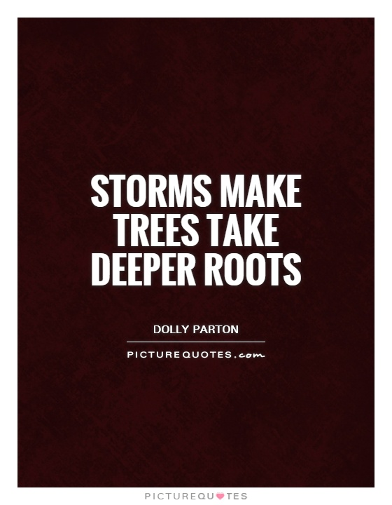 Storms make trees take deeper roots Picture Quote #1