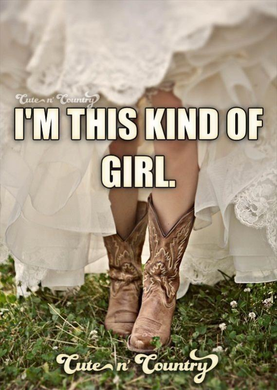 I'm this kind of girl Picture Quote #1