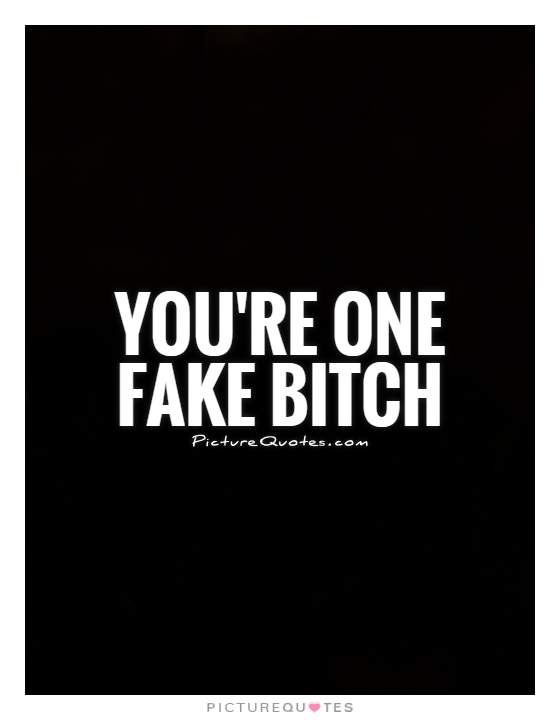 Quotes About Bitches Stunning You're One Fake Bitch  Picture Quotes