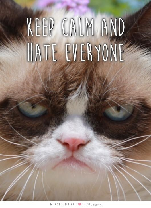 Keep calm and hate everyone Picture Quote #2