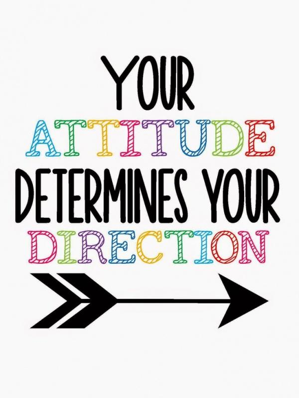 Your attitude determines your direction Picture Quote #1