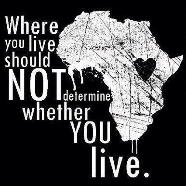 Where you live should not determine whether you live, or whether you die Picture Quote #1
