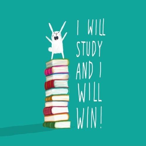 I will study and I will win! Picture Quote #1