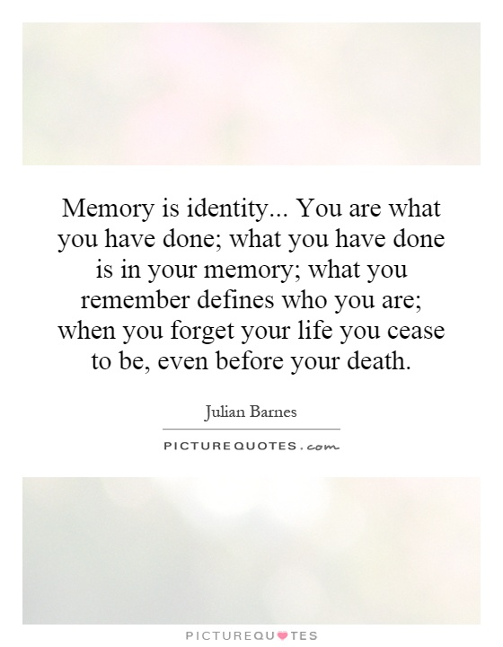 what defines your identity This is a very simple, yet profound question simple because if your life has spanned more than four decades, you should have some sense of personal identity.