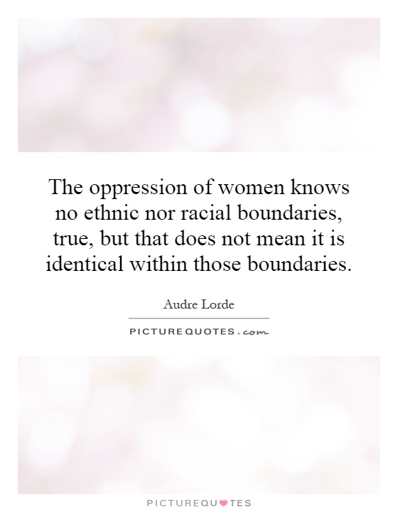 oppression of women Does islam oppress women rating: font size: description: the real status of women in islam the global oppression of women could be trampled into oblivion.