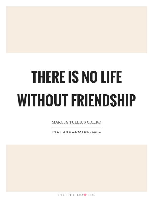 There is no life without friendship Picture Quote #1