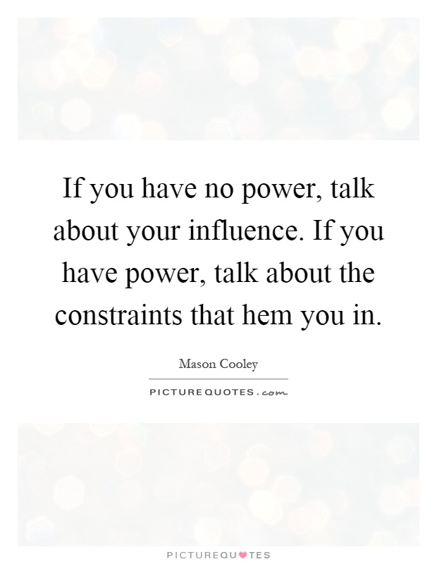 influence talk about