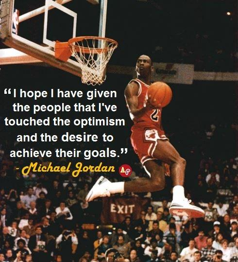 I hope I have given the people that I've touched the optimism and the desire to achieve their goals Picture Quote #1