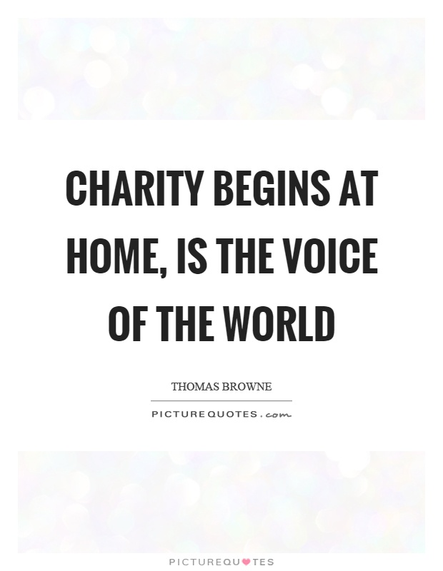 an essay on charity begins at home