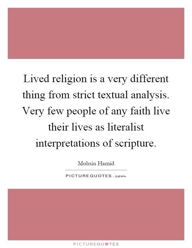 An analysis of faith in religions