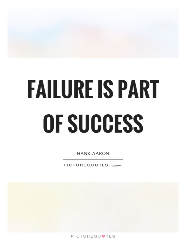 Failure is part of success Picture Quote #1