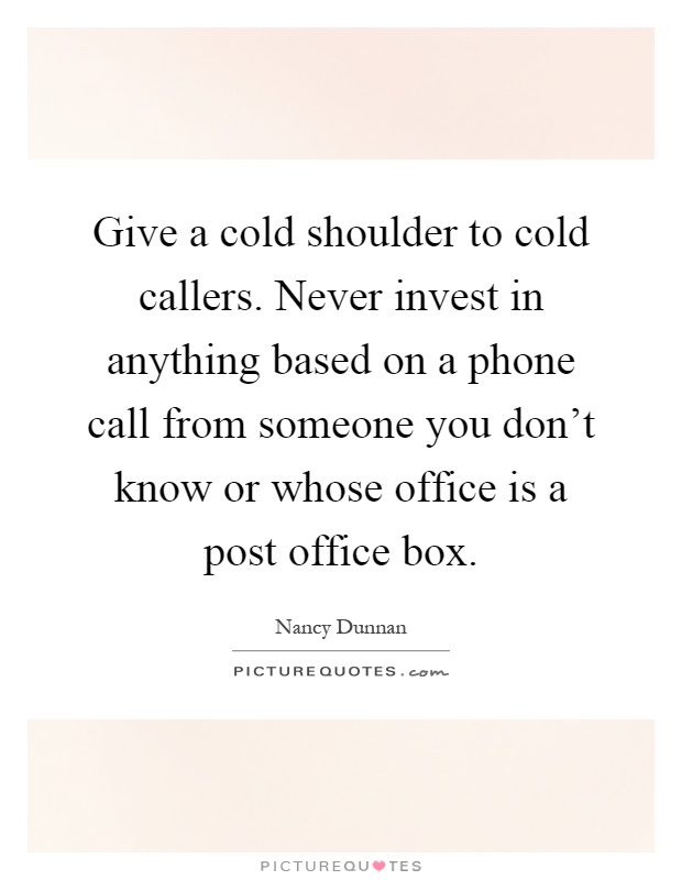 Cold Shoulder Quotes