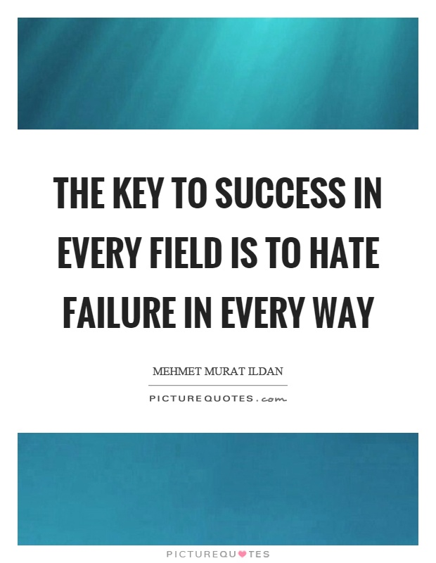 failure: the key to success essay A researcher argues that a research gap in understanding failure skews how we understand success we're missing when we study success on one key product.