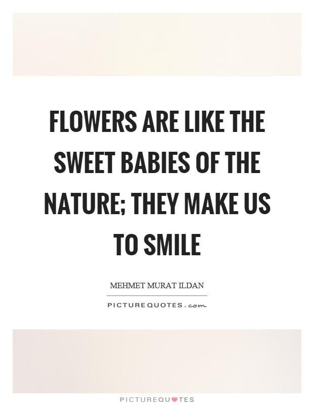 flowers are like the sweet babies of the nature they make us to