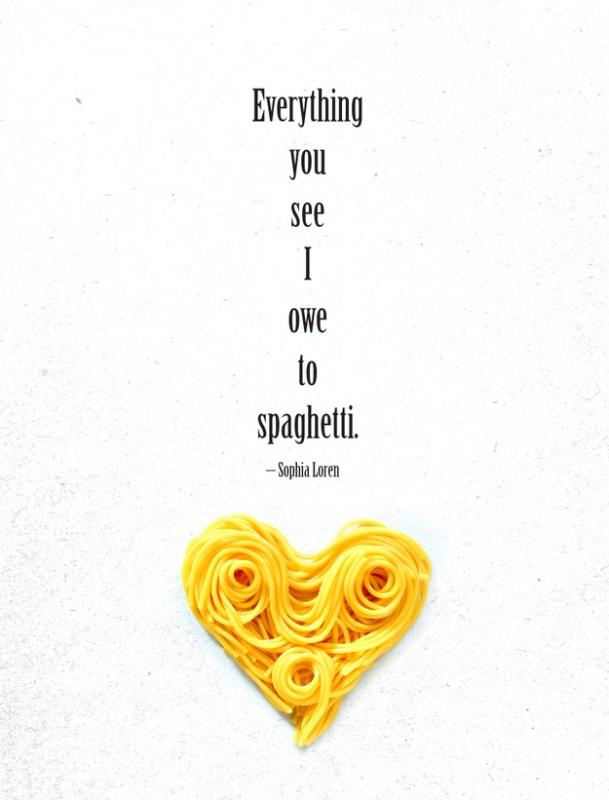 Everything you see I owe to spaghetti Picture Quote #1