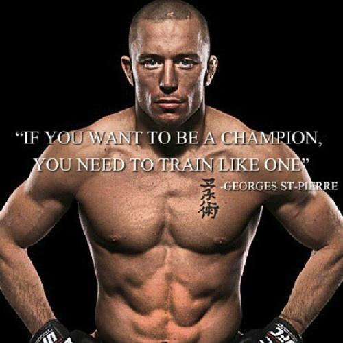 If you want to be a champion you need to train like one Picture Quote #1