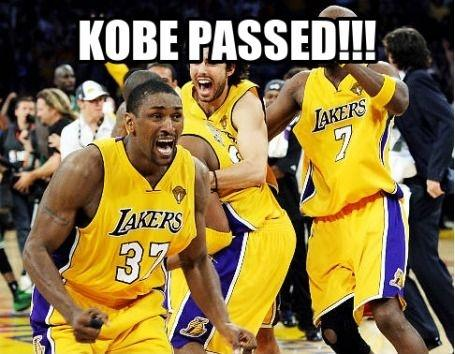 Kobe passed Picture Quote #1