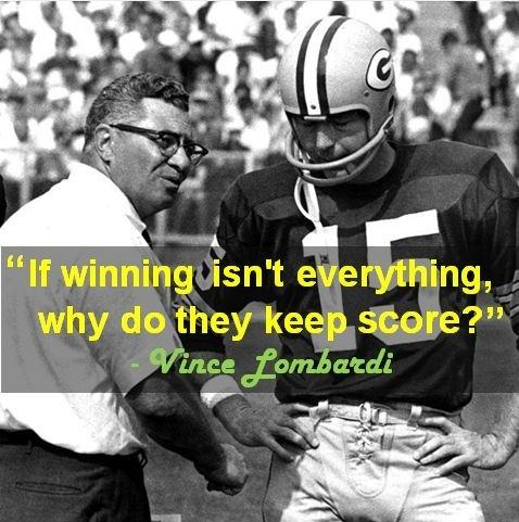 If winning isn't everything, why do they keep score? Picture Quote #1