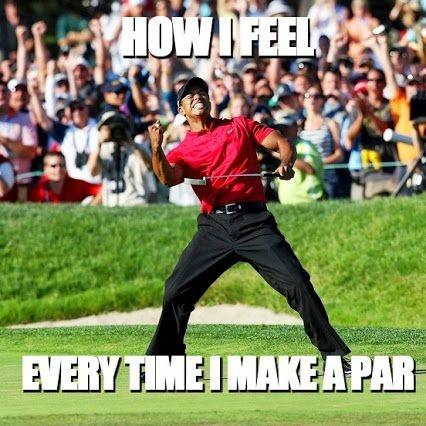 How I feel every time I make par Picture Quote #1