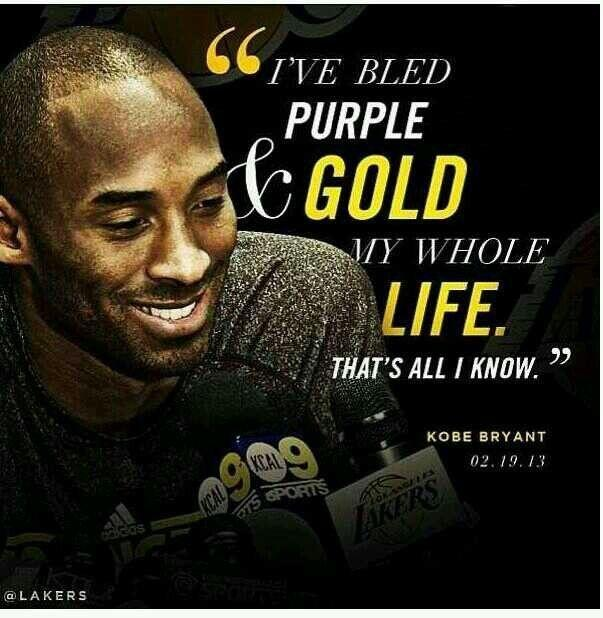 I've bled purple and gold my whole life, that's all I know Picture Quote #1