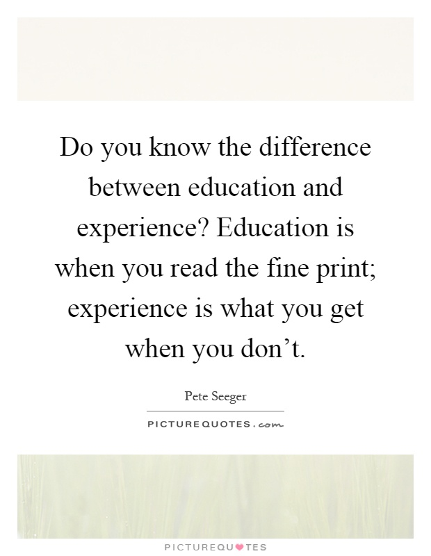 the difference between learning from books and learning by experience What is one more difference what are the differences between books and experience what are the differences between books and experience learning.
