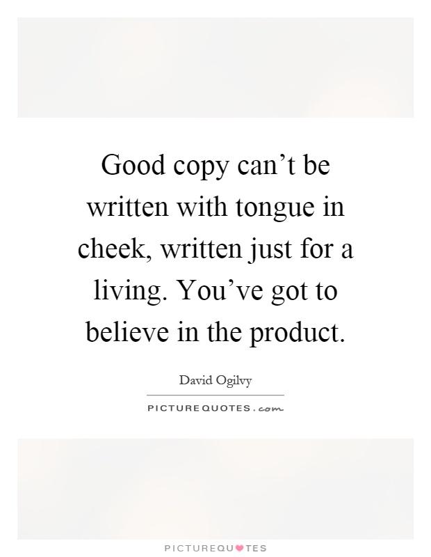 Copy written