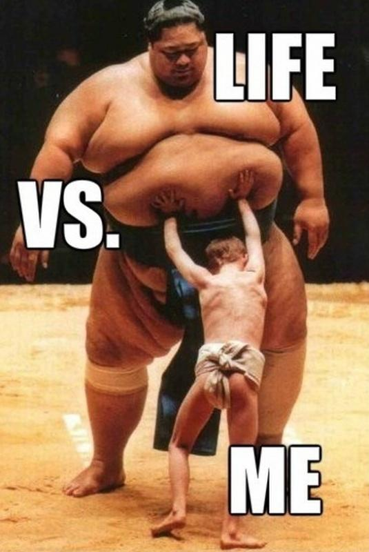 Life vs me Picture Quote #1