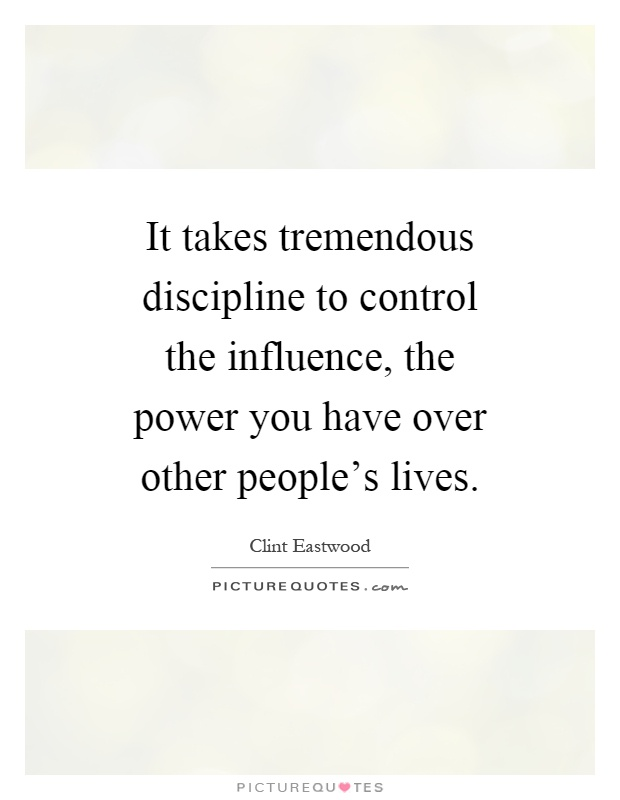 discipline is the key to have power over others Developing personal power and gaining self discipline begins with breaking old habits and learning to focus your the problem was not that i didn't have self discipline or personal power as you gain a small degree of personal power, you can use it to break other energy draining habits.